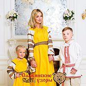 Одежда handmade. Livemaster - original item Linen Slavic dress