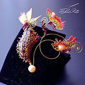 Украшения handmade. Livemaster - original item Collectible flower brooch, gift for woman, Sarracenia, Nepenthes. Handmade.