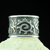Украшения handmade. Livemaster - original item Ring of 925 silver Petroglyphs. Handmade.
