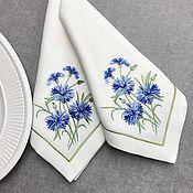 Для дома и интерьера handmade. Livemaster - original item Napkins with embroidered