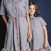 """Костюмы ручной работы. Ярмарка Мастеров - ручная работа Платье-рубашка """"Family Look"""". Handmade."""