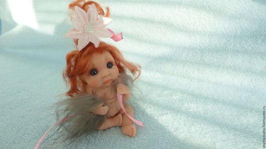 Коллекционные куклы ручной работы. Ярмарка Мастеров - ручная работа. Купить ........Кокетка в горжетке............... Handmade. Бежевый, рыжая девочка