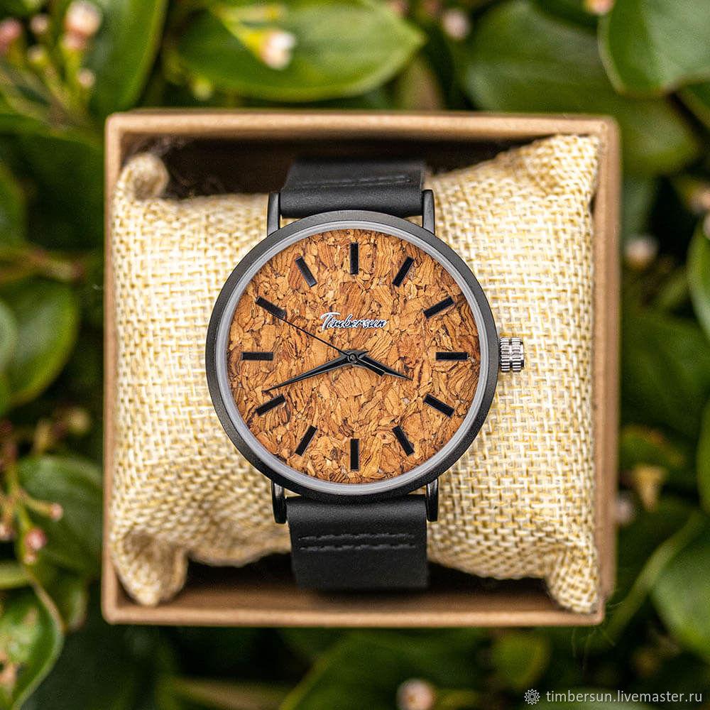 «Cork» от Timbersun, наручные часы с циферблатом из пробки, Часы наручные, Москва,  Фото №1