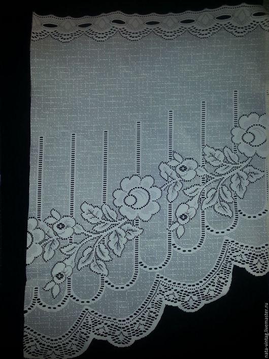 Винтажные предметы интерьера. Ярмарка Мастеров - ручная работа. Купить Ламбрекен на маленькое окно.Плавная арка. Цветы. Англия . Винтаж.. Handmade.