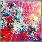 Картины и панно ручной работы. Ярмарка Мастеров - ручная работа Фотокартина Чортова трава. Handmade.
