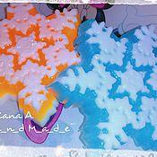 """Косметика ручной работы. Ярмарка Мастеров - ручная работа Мыло ручной работы """"Снежинка"""". Handmade."""