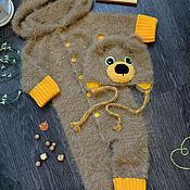 Работы для детей, handmade. Livemaster - original item Knitted overalls Pussy. Handmade.