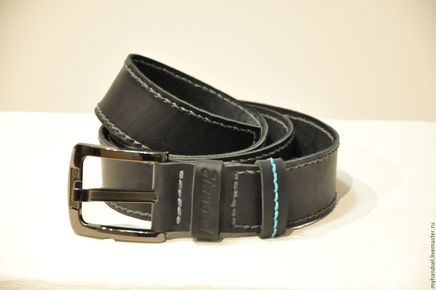 Leather classic belt for men/genuine leather/ only handmade/ Be our guest http://vk.com/myhandsel