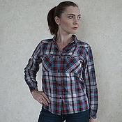 Одежда handmade. Livemaster - original item Women`s plaid shirt. Handmade.
