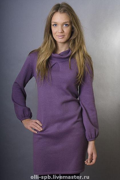 Машинное вязание платье с
