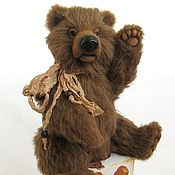 Куклы и игрушки ручной работы. Ярмарка Мастеров - ручная работа Бурый медведь БРУНО. Handmade.