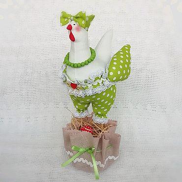 """Куклы и игрушки ручной работы. Ярмарка Мастеров - ручная работа Пасхальная курочка в стиле тильда """"Зелёный горошек"""". Handmade."""