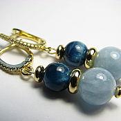 Украшения handmade. Livemaster - original item Earrings Apatite and aquamarine