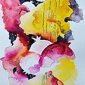 """Картины и панно ручной работы. Ярмарка Мастеров - ручная работа Картина акварелью """"Гранаты"""". Handmade."""