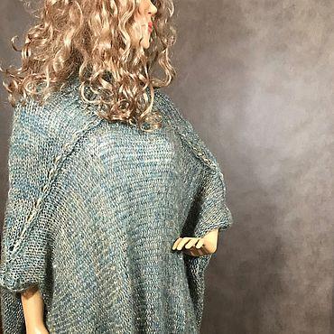 Одежда ручной работы. Ярмарка Мастеров - ручная работа Пончо из  мохера с пайетками Венето. Handmade.