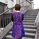 Жилеты ручной работы. Жилет женский удлиненный фиолетовый. Лариса Косовских. Интернет-магазин Ярмарка Мастеров. Орнамент, жилет удлиненный