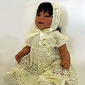 Одежда детская handmade. Livemaster - original item Knit set for baby to be discharged or Christening. Handmade.