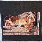Картины и панно ручной работы. Ярмарка Мастеров - ручная работа Дружба животных. Handmade.