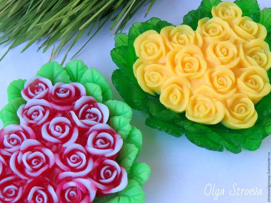 """Мыло ручной работы. Ярмарка Мастеров - ручная работа. Купить Мыло """"Сердце из роз"""". Handmade. Мыло ручной работы, весна"""