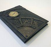 Канцелярские товары handmade. Livemaster - original item Exclusive steampunk notebook, brutal style, steampunk journal, handcra. Handmade.