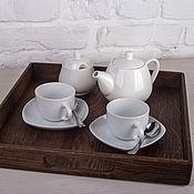 Для дома и интерьера handmade. Livemaster - original item Square oak tray. Handmade.