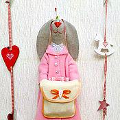Для дома и интерьера ручной работы. Ярмарка Мастеров - ручная работа Хранительницы ватных дисков и ватных палочек (серый зай). Handmade.