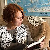 Аксессуары handmade. Livemaster - original item Collars: Fashionable doll collar under Vologda lace. Handmade.