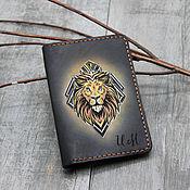 Сумки и аксессуары handmade. Livemaster - original item Passport cover with a Lion pattern. Handmade.