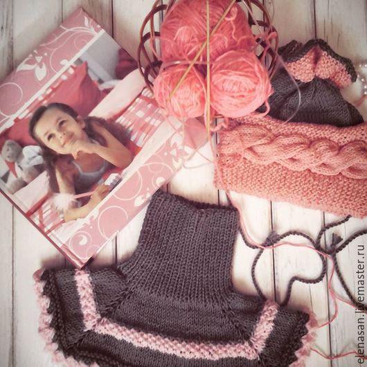 """Одежда для девочек, ручной работы. Ярмарка Мастеров - ручная работа. Купить Шапочка и манишка """" Пироженко"""". Handmade. Шапочка для девочки"""