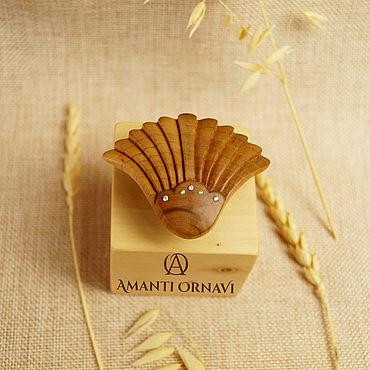 Decorations handmade. Livemaster - original item Lotus ring with cubic Zirconia. Handmade.