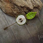"""Украшения ручной работы. Ярмарка Мастеров - ручная работа Брошь-булавка """"Яблочко"""". Handmade."""