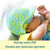 Материалы для творчества handmade. Livemaster - original item master class on crochet hat MK children`s master class. Handmade.
