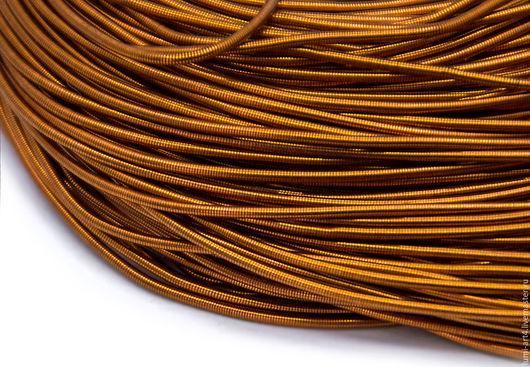 Для украшений ручной работы. Ярмарка Мастеров - ручная работа. Купить Канитель 1мм мягкая гладкая Красная бронза (KAN-13) Индия. Handmade.