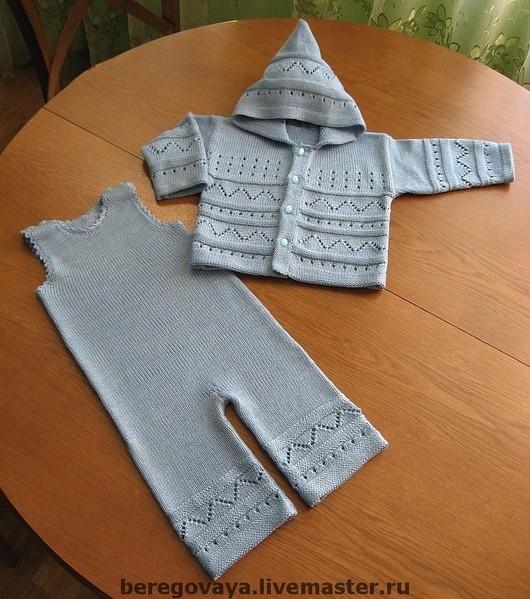"""Одежда унисекс ручной работы. Ярмарка Мастеров - ручная работа. Купить Детский комплект """"Унисекс"""". Handmade. Детский, комплект, голубой"""