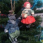 Подарки к праздникам ручной работы. Ярмарка Мастеров - ручная работа Красная шапочка и Серый волк. Handmade.