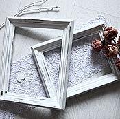 Сувениры и подарки manualidades. Livemaster - hecho a mano Shabby photo frames, recessed.. Handmade.