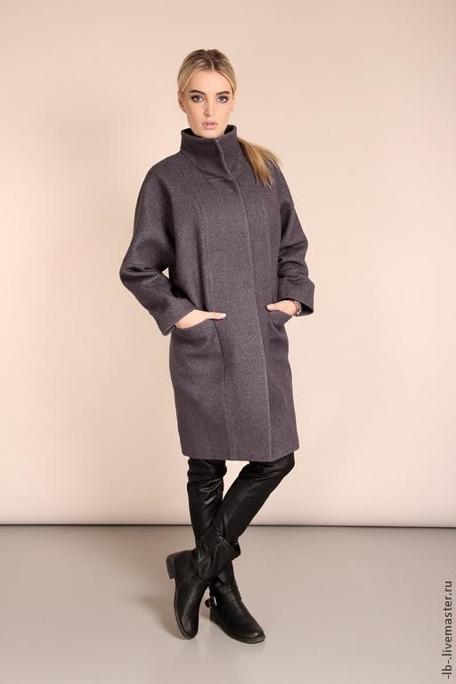 """Верхняя одежда ручной работы. Ярмарка Мастеров - ручная работа. Купить Пальто """"Дымка"""". Handmade. Серый цвет, джинсовый стиль"""