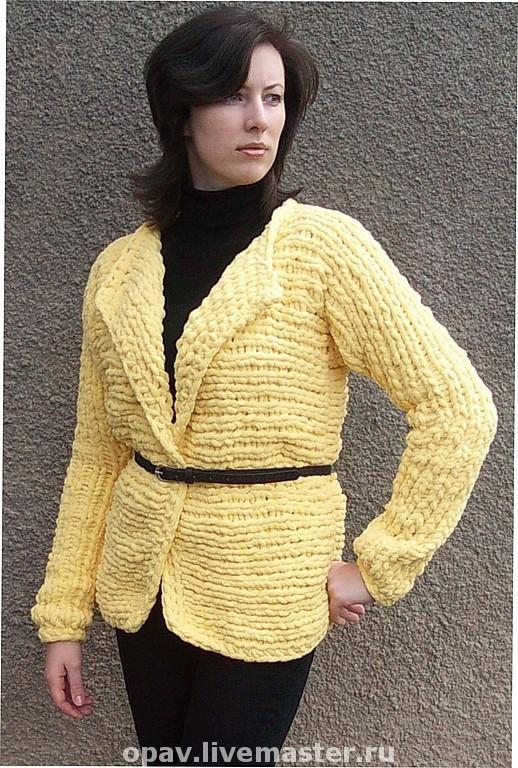 """Кофты и свитера ручной работы. Ярмарка Мастеров - ручная работа. Купить Жакет """"Настроение"""". Handmade. Вязание спицами, однотонный, спицы"""