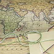 """Материалы для творчества ручной работы. Ярмарка Мастеров - ручная работа Бумага для упаковки """"Карта"""". Handmade."""