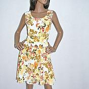 Одежда ручной работы. Ярмарка Мастеров - ручная работа Розы платье из шифона. Handmade.