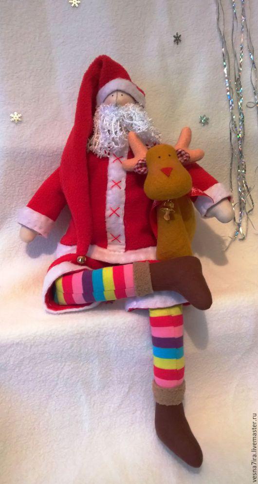 """Куклы и игрушки ручной работы. Ярмарка Мастеров - ручная работа. Купить Набор для шитья куклы:""""Санта с оленем"""". Handmade. Ярко-красный"""