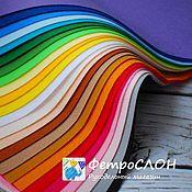 Материалы для творчества ручной работы. Ярмарка Мастеров - ручная работа Набор мягкого корейского фетра 24 цвета. Handmade.