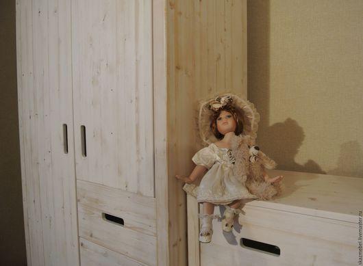 Мебель ручной работы. Ярмарка Мастеров - ручная работа. Купить Шкаф состаренный. Handmade. Белый, мебель в стиле прованс