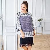 Одежда handmade. Livemaster - original item Viscose dress with a spectacular Polka dot print