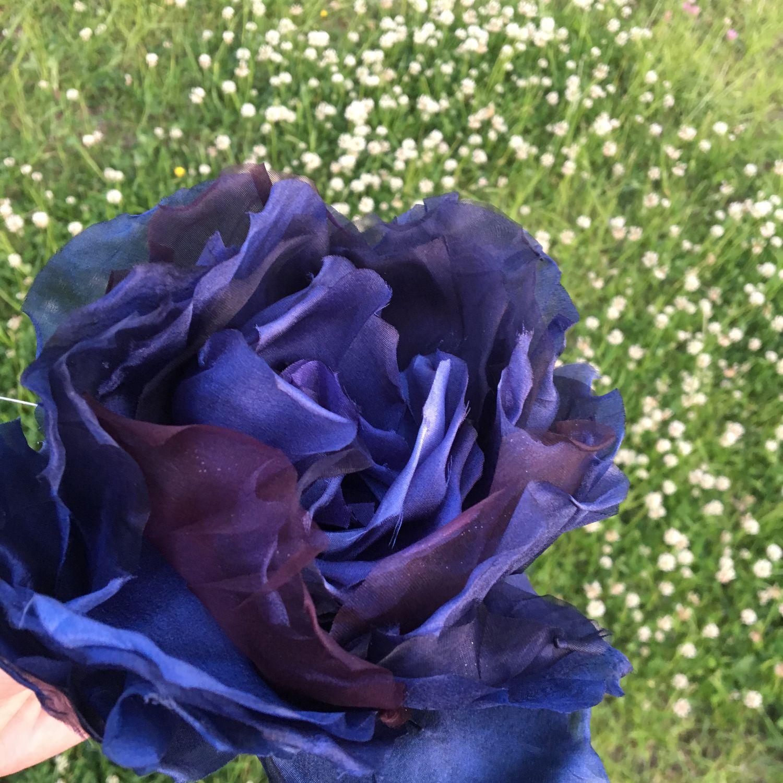Роза черная ночь брошь цветок, Брошь-булавка, Москва,  Фото №1