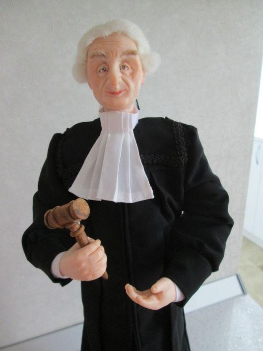 Коллекционные куклы ручной работы. Ярмарка Мастеров - ручная работа. Купить Судья. Handmade. Черный, кукла в подарок, фимо