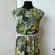 Одежда ручной работы. Ярмарка Мастеров - ручная работа 333: летнее платье с принтом, длинное платье на лето, платьев пол. Handmade.