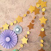 Подарки к праздникам ручной работы. Ярмарка Мастеров - ручная работа Гирлянды из бумаги. Handmade.