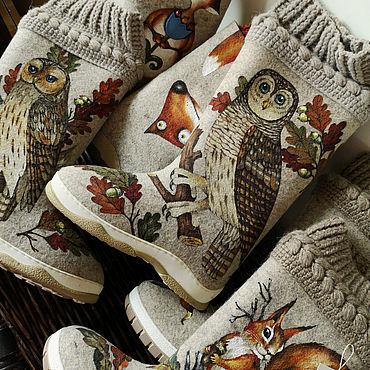 """Обувь ручной работы. Ярмарка Мастеров - ручная работа Валенки: из серии """"Сипуха"""". Handmade."""