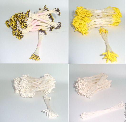 Материалы для флористики ручной работы. Ярмарка Мастеров - ручная работа. Купить Тычинки (набор 20 пучков) - 4 вида. Handmade.
